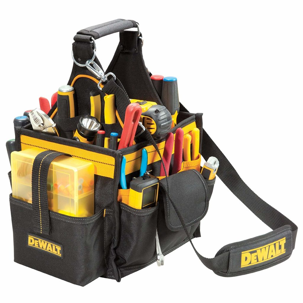 electricians tool pouch zippered