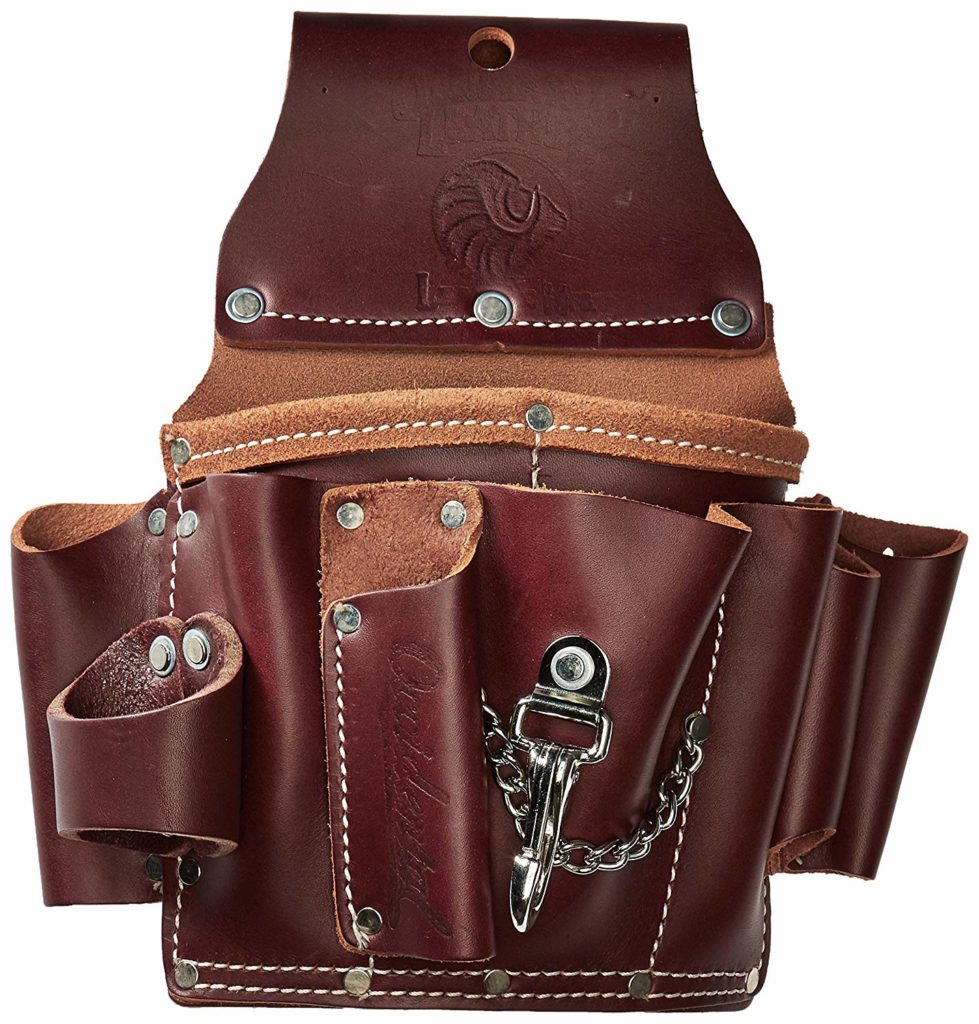 best electrician's leather tool pouch