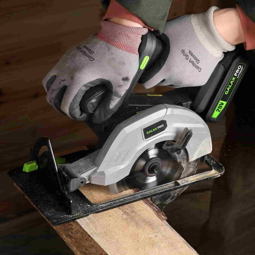 cordless mini circular saw with battery and charger